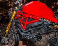 2014 Ducati Monster Engine, Michigan Motorcycle Show Stock Images