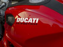 Ducati Monster motorcycle royalty free stock photography