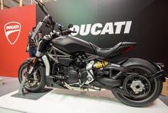 Ducati motocykl wystawiający przy MOTO przedstawieniem w Krakow Polska zdjęcie stock