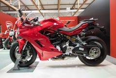 Ducati motocykl wystawiający przy MOTO przedstawieniem w Krakow Polska obraz royalty free