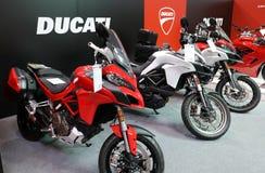 Ducati motocykl wystawiający przy MOTO przedstawieniem w Krakow Polska zdjęcia royalty free