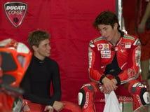 Ducati MotoGP Casey Entkerner 2009 und Nicky Hayden Stockbild