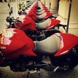 Ducati motorbike Royaltyfri Foto
