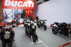 Ducati motorbike show Royalty Free Stock Photography