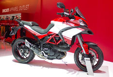 2013 Ducati Motorcycle on Display. Royalty Free Stock Photos