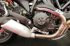 Ducati motorcycle - motor detail Stock Photography