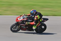 Ducati Motorcycle Racing on the track royalty free stock photos