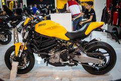Ducati motorcycles on 54th Belgrade international car and motor show stock image