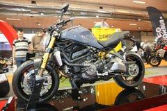 Ducati på den Belgrade Car Show Arkivfoton