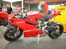 Ducati på den Belgrade Car Show Arkivfoto