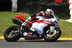 Ducati race motorcycle stock photo