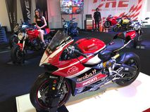 Ducati racing bike show. On display Stock Images