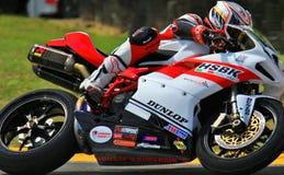 Ducati 848 rasmotorfiets Stock Foto