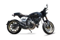 Ducati Scrambled o piloto do café Fotografia de Stock Royalty Free