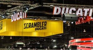 DUCATI and SCRAMBLER Ducati booth Stock Photography