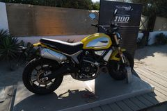 Ducati Scrambler motorcycle stock photos