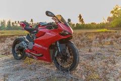 Ducati 899, sportcykel av det Ducati motorinnehavet Arkivfoton