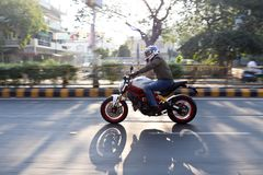 Ducati-Tag der Republik-Fahrt Indien Lizenzfreies Stockfoto