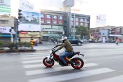 Ducati-Tag der Republik-Fahrt Indien Lizenzfreies Stockbild