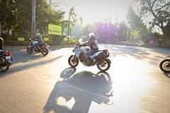 Ducati-Tag der Republik-Fahrt Indien Stockfotos
