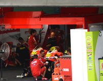 Ducati Team pit-stop garage Royalty Free Stock Photo