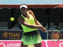 Éducation de l'adolescent australien Destanee Aiava de tennis se préparant à l'open d'Australie chez Kooyong Photographie stock libre de droits