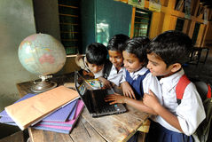 Éducation rurale en Inde Photographie stock