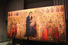 Duccio di Buoninsegna Maesta, metropolitana del Duomo, Siena, Italien för opera för Museo dell` Arkivfoton