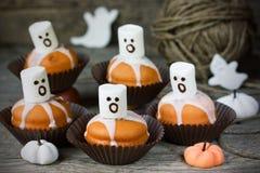 Duch babeczki dla Halloween przyjęcia Fotografia Stock