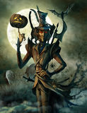 Duch Halloween na cmentarzu Zdjęcie Royalty Free