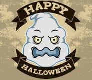 Duch Kierownicza Halloweenowa odznaka Ilustracja Wektor