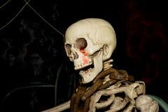 Duch na Halloween, kościec z szyja łańcuchem Obraz Royalty Free