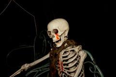 Duch na Halloween, kościec z szyja łańcuchem Obraz Stock