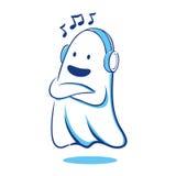Duch słucha muzyka ilustracja wektor