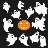 Duch, set duchy dla Halloween ilustracja wektor