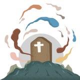 Duch w grobowu royalty ilustracja