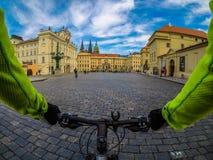 Duch za królowaniami w ten mieście Praga obrazy royalty free