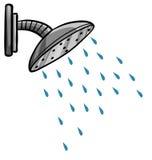 ducha stock de ilustración