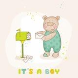Ducha de bebé o tarjeta de llegada Imagen de archivo