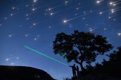 Ducha de la estrella Foto de archivo libre de regalías