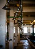 Ducha de la prisión de Alcatraz Fotos de archivo libres de regalías