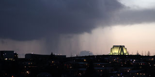 Ducha de lluvia Imagen de archivo libre de regalías