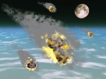 Ducha de meteorito stock de ilustración