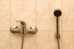 Ducha del cuarto de baño Fotografía de archivo