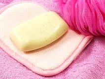 Ducha del soplo del jabón y del baño Foto de archivo libre de regalías