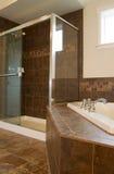 Ducha grande en sitio de baño principal fotografía de archivo