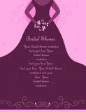 Ducha/invitación nupciales de la boda ilustración del vector