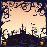 Ducha kasztel - Halloweenowy tło Fotografia Royalty Free