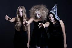 ducha portreta czarownicy żywy trup zdjęcie royalty free
