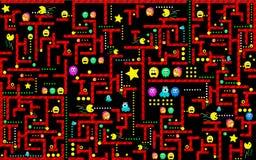 Ducha potwora ścigać się Arkady gry ikona Retro Gemowy projekt royalty ilustracja